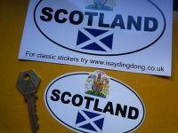 Scotland Royal Crest & Saltire ID Plate Sticker. 4