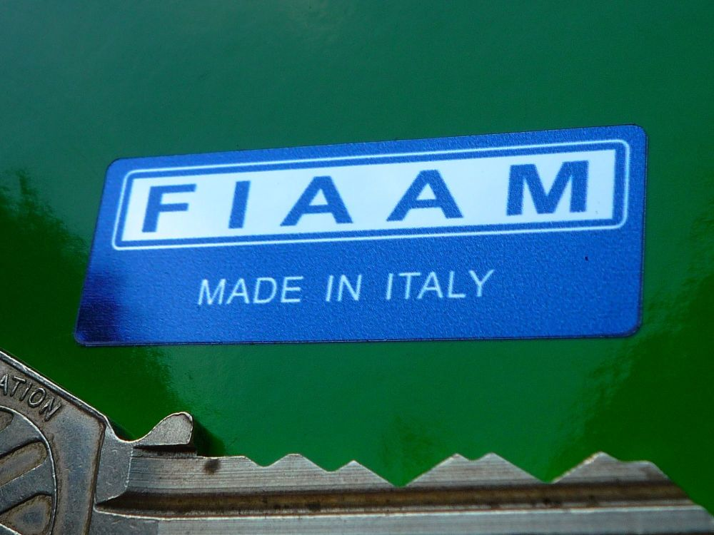 Fiaam 'Made in Italy' Navy Blue & Foil 40mm sticker