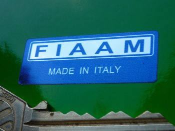 Fiaam 'Made in Italy' Navy Blue & Foil Sticker. 40mm.