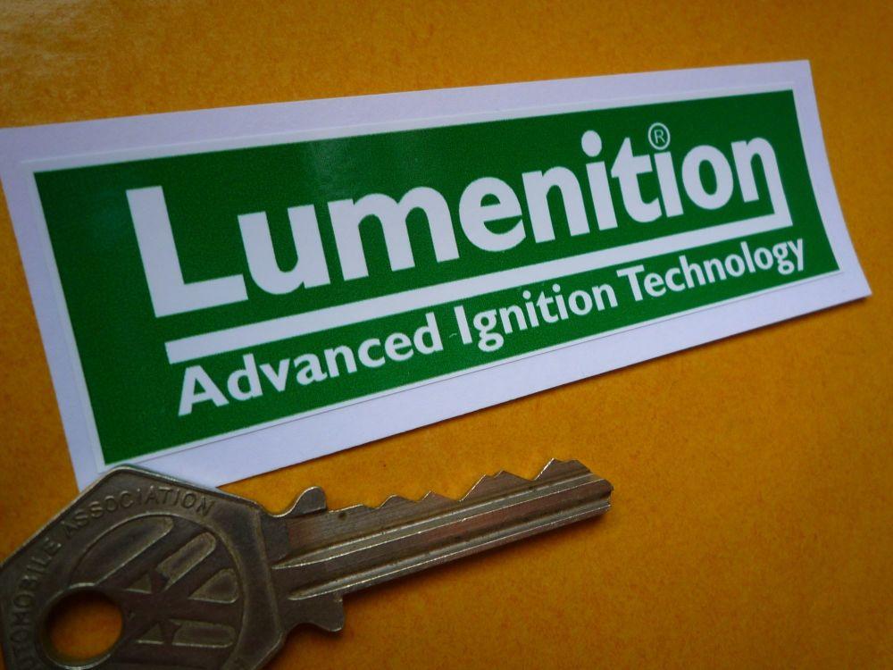 """Lumenition Ignition Green Sticker. 4""""."""