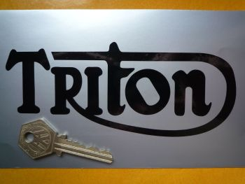 "Triton Cut Vinyl Text Sticker. Various Colours. 6"" Pair."