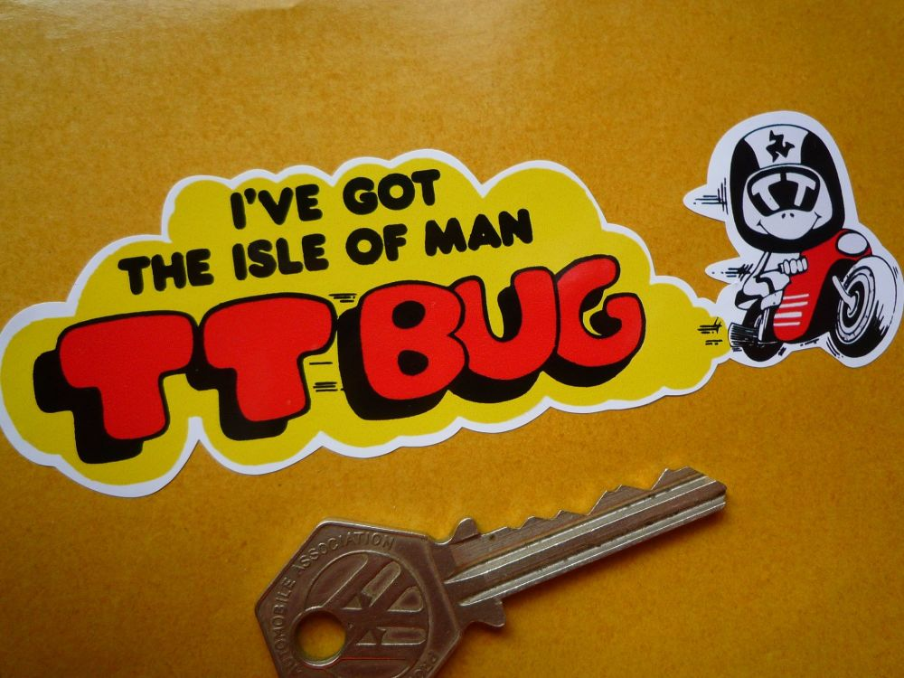 "I've Got The Isle Of Man TT Bug 1970's Style TT Races Sticker. 5""."