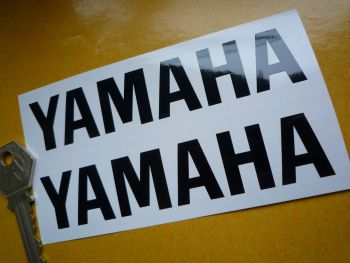 Yamaha Cut Vinyl Text Stickers. Style 2. 120mm Pair.
