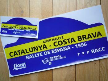 "Rallye De Espana 1996 Rally Plate Style Sticker. 16""."