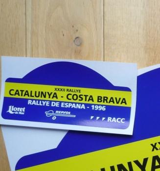 "Rallye De Espana 1996 Rally Plate Style Sticker. 6""."