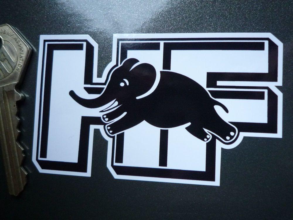 "Lancia Delta Integrale 3D style HF Black & White/Gold/Silver Sticker. 3.5"" or 5""."