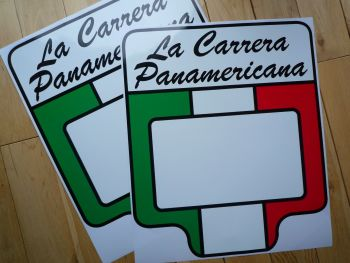 "La Carrera Panamericana Mexico Door Panel Stickers. 17.5"" Pair."