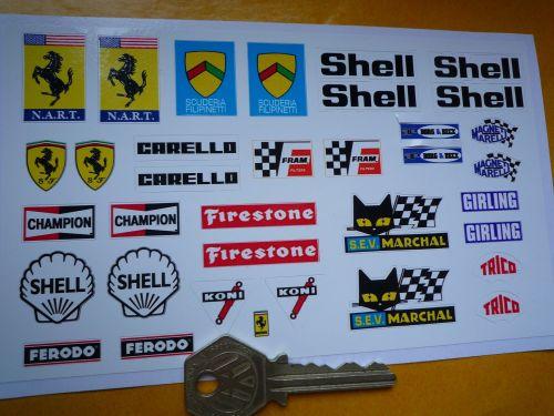 NART FERRARI 1/18th scale Classic Racing Car Stickers Set of 35. #23