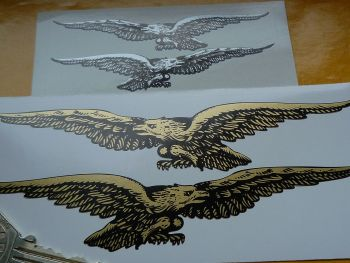 "Moto Guzzi Cut Out Soaring Eagle Stickers. 4"" or 6"" Pair."