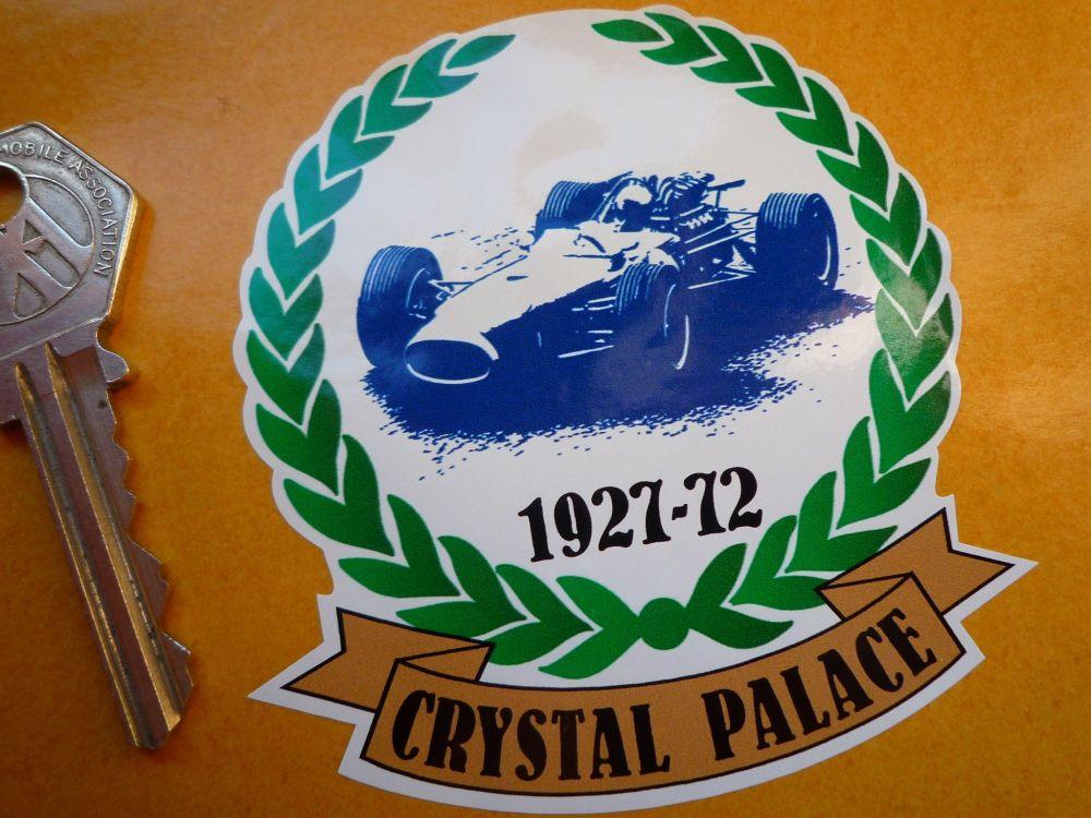 "Crystal Palace Circuit London 1927-1972 Garland Sticker. 3""."