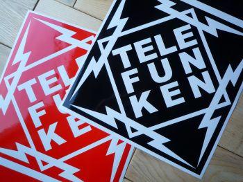 "Telefunken Diamond Cut Vinyl Sticker. 11.5"" or 16""."