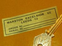 "Marston Excelsior of Leeds Jaguar etc Radiator sticker. 3""."