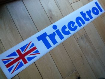 "Tricentrol Rally Large Oblong Sticker. 29""."