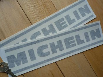 "Michelin Cut Vinyl Lined Text Stickers. 12"" Pair."