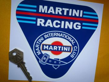 "Martini Racing International Club Triangle Sticker. 6"" ."