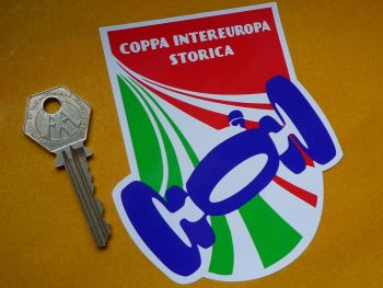 "Coppa Intereuropa Storica Sticker. 4""."