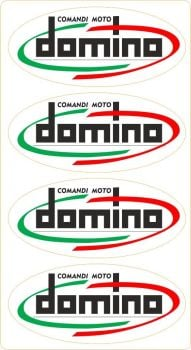 Domino Comandi Moto Italia Twistgrip Stickers. 40mm. Set of 4.