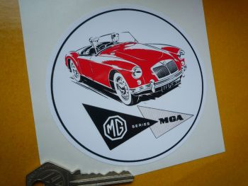 "MGA Promotional old style circular Sticker. 4.5""."