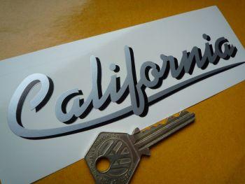 "Moto Guzzi California Shadowed Text Stickers. 5.75"" Pair."