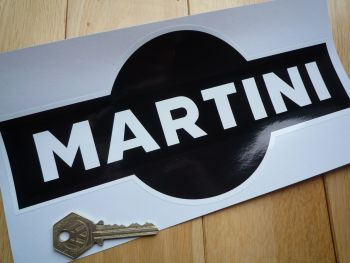 "Martini Black & White Sticker. 10""."