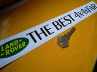 Land Rover 'The Best 4x4xFar' Window or Car Sticker. 12