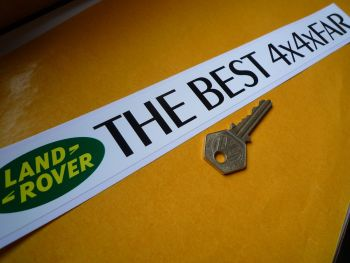 "Land Rover 'The Best 4x4xFar' Window or Car Sticker. 12""."