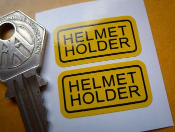 Helmet Holder Style 3 Classic Japanese Bike Stickers. 30mm Pair.