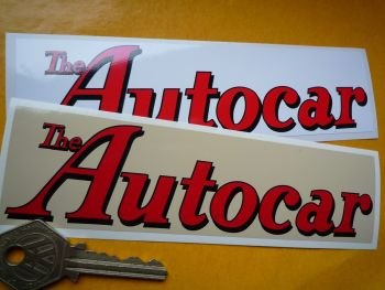 "The Autocar Oblong Stickers. 6"" Pair."