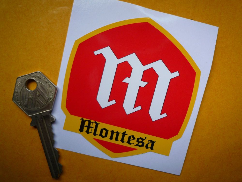 "Montesa Shield Logo Sticker. 3""."