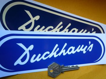"Duckhams Old Style Oval Shaped Sticker. 8""."