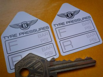 "Bentley Tyre Pressure Stickers. 1.75"" Pair."