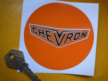 "Chevron Cars Circular Style Sticker. 4""."