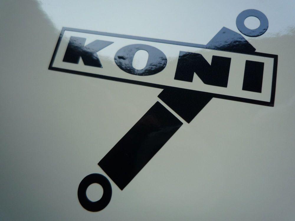 """Koni Shock Absorbers Cut Vinyl Stickers. 2"""" or 4"""" Pair."""