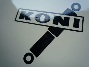 "Koni Shock Absorbers Cut Vinyl Stickers. 2"" or 4"" Pair."