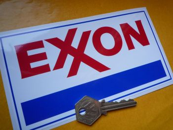 "Exxon Oblong Stickers. 6.5"" Pair."