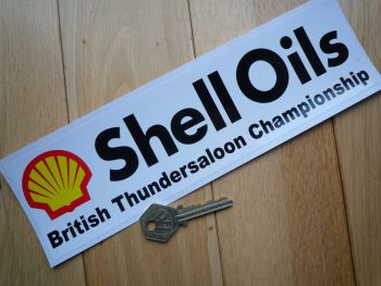 "Shell Oils British Thundersaloon Championship Oblong Stickers. 10"" Pair."