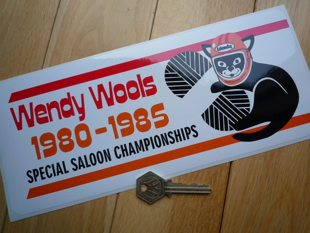 Wendy Wools Special Saloon Championships 1980-1985 Sponsor Sticker. 11