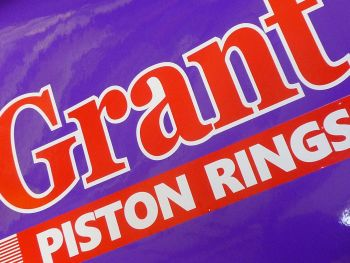 "Grant Piston Rings Large Car Sticker. 12""."
