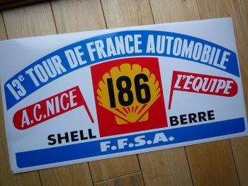 "13e Tour de France Automobile Rally Plate Style Sticker. 17.5""."