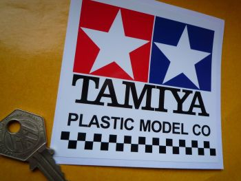 Tamiya Plastic Model Co Square Style Sticker. 100mm.