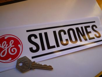 "GE Silicones Race Car Sponsors Sticker. 10""."