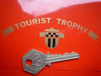 "Honda GB500 Tourist Trophy Text & Shield Style Sticker. 4.5""."