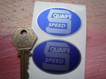 "Quaife 5 Speed Oval Shaped Stickers. 2"" Pair."