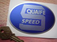 Quaife 5 Speed Oval Shaped Sticker. 3.75