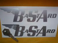 "BSA BaStArd Cut Vinyl Angular Style Gas Tank Stickers. 7"" Pair."