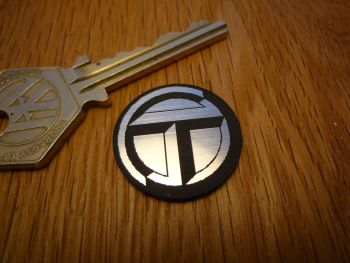 Talbot Logo Circular Laser Cut Self Adhesive Car Badge. 25mm.