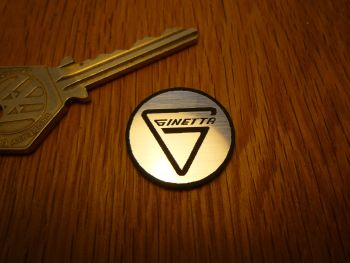Ginetta Logo Circular Laser Cut Self Adhesive Car Badge. 25mm.