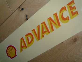"Shell Advance Printed & Cut Vinyl Sticker. 12""."