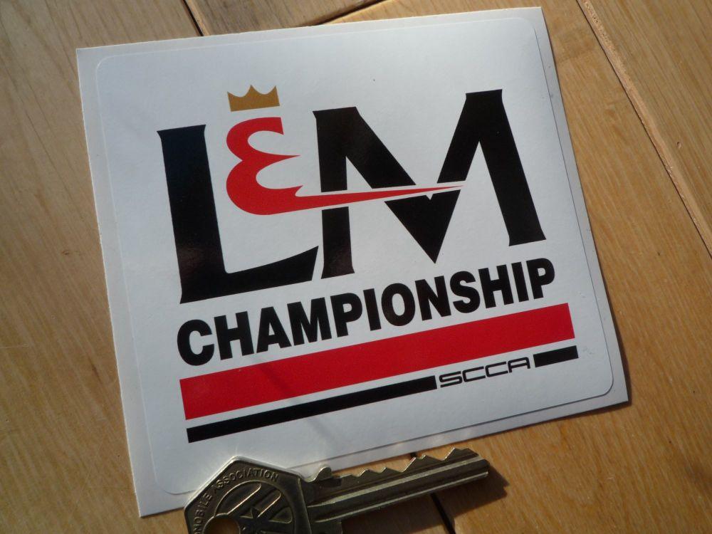 "L&M Championship SCCA Sticker. 4""."