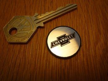 Chevrolet Logo Circular Laser Cut Self Adhesive Car Badge. 25mm.